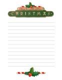 Lettre de Noël Images stock
