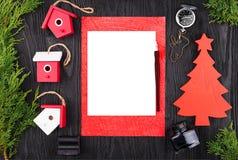 Lettre de Noël, carte postale Vue de ci-avant images libres de droits