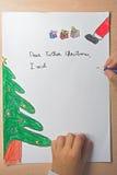 Lettre de Noël de père Photographie stock libre de droits