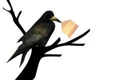Lettre de Raven Illustration de Vecteur