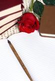 Lettre de Rose Image libre de droits