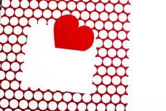 Lettre de Saint-Valentin Images stock
