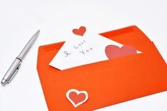 Lettre de Saint Valentin Photos libres de droits