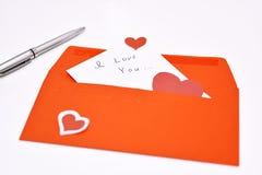 Lettre de Saint Valentin Photo stock