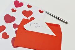 Lettre de Saint Valentin Image libre de droits