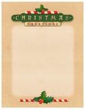 Lettre de salutations de Noël Images stock