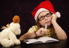 Lettre de Santa Image stock