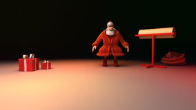 Lettre de Santa Claus banque de vidéos