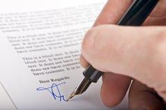 Lettre de signature Images stock