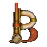 Lettre de Steampunk d'isolement sur le vecteur blanc illustration stock