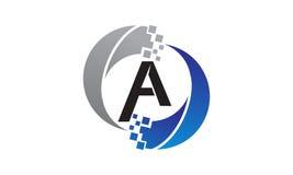 Lettre A de transfert de technologie Image stock