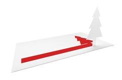 Lettre de vacances de Noël Photo libre de droits