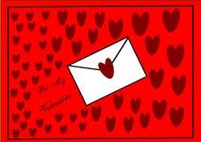 Lettre de Valentine Photographie stock