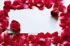 Lettre de Valentine Images stock