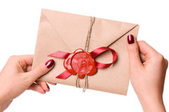 Lettre de Valentine Photos stock