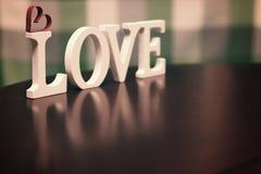 Lettre des textes de forme d'amour Photo stock