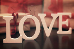 Lettre des textes de forme d'amour Photographie stock libre de droits