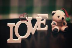 Lettre des textes de forme d'amour Image libre de droits
