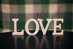 Lettre des textes de forme d'amour Images libres de droits