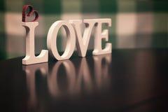 Lettre des textes de forme d'amour Photos stock