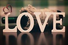 Lettre des textes de forme d'amour Photographie stock