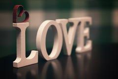 Lettre des textes de forme d'amour Image stock