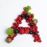 lettre du fruit juteux A Photo libre de droits