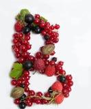 lettre du fruit juteux B photographie stock