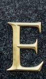 Lettre E image stock