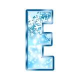 Lettre E d'alphabet de l'hiver Photos libres de droits