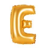 Lettre E d'orange d'alphabet anglais Images stock