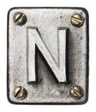 Lettre en métal photos libres de droits