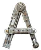 Lettre en métal Photographie stock libre de droits