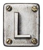 Lettre en métal image stock