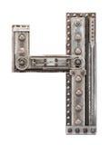 Lettre en métal Photographie stock