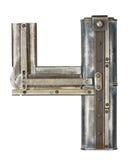 Lettre en métal Images stock