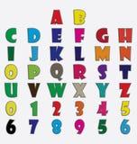 Lettre espiègle 3d plat d'ABC illustration libre de droits