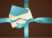 Lettre et bande bleue Image libre de droits