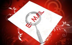 Lettre et lance d'email Images stock