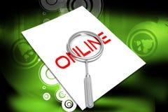 Lettre et lance en ligne Photos stock