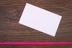 Lettre et ruban d'amour pour le jour de valentines, l'espace de copie pour le texte Photographie stock libre de droits