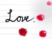 Lettre et sang d'amour Image libre de droits