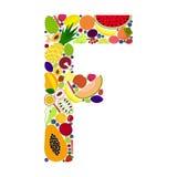 Lettre F avec des fruits Illustration de Vecteur