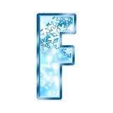 Lettre F d'alphabet de l'hiver Images libres de droits