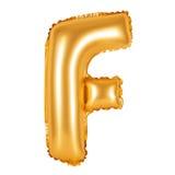 Lettre F d'orange d'alphabet anglais Image stock