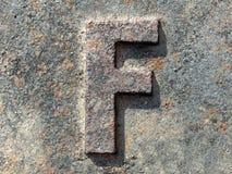 Lettre F de? Photographie stock libre de droits