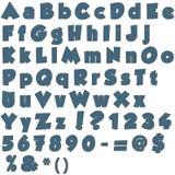 Lettre faite main d'alphabet de jeans Photos libres de droits