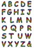 Lettre formée par zèbre de peau de fond Photographie stock