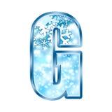 Lettre G d'alphabet de l'hiver Image libre de droits