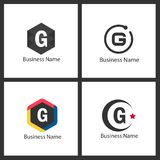 Lettre G Logo Design Set Images libres de droits